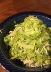 キャベツとしらすのゴマごまサラダ