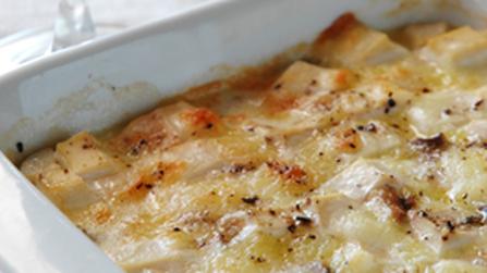 豆腐とエリンギのグラタン