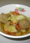 ミートボールと野菜のカレー煮★宇都宮給食
