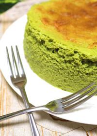 ふわしゅわ♪抹茶スフレチーズケーキ
