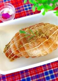 箸で切れる☆手作りハム風塩豚