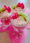 ひな祭り色カップケーキ