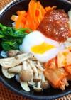 蒸し野菜のビビンバ丼