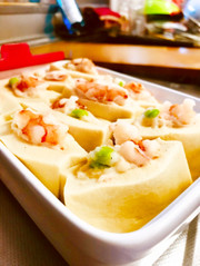 低糖質! 高野豆腐の海老しんじょづめの写真