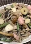 鴨肉と日本そばのテキトーチャンプル