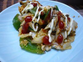野菜と豆腐のマヨケチャンプルー