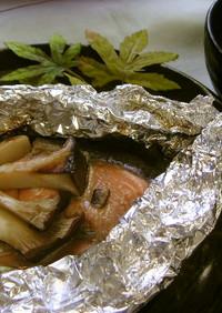 鮭のホイル焼き(健康食)