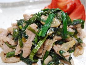 豚肉とニラのにんにくコショウ炒め