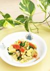 保育園の給食❤青菜と炒り卵のごま和え