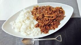 麺つゆ★フライパンで簡単和風きのこカレー