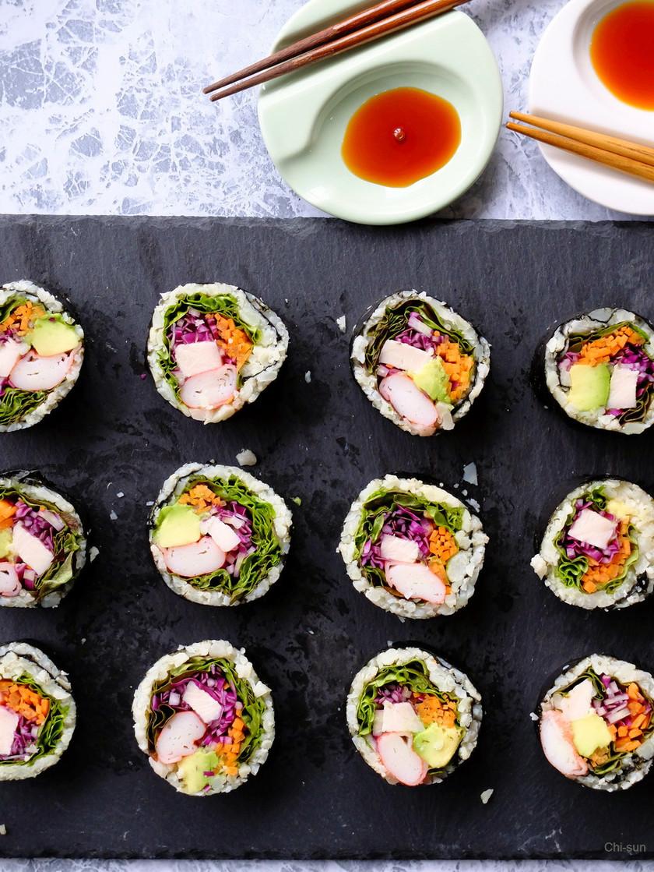 低糖質☆カリフラワーライスの巻き寿司!