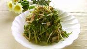 水菜ともやしのサバ水煮缶サラダの写真