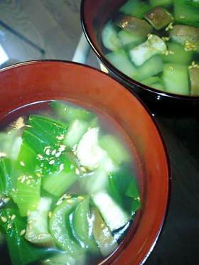 お野菜を補う☆パパっとお手軽スープ