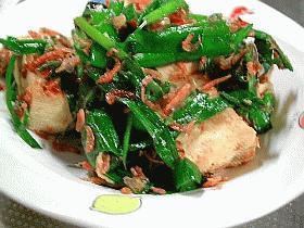 豆腐とアミえびの炒め物