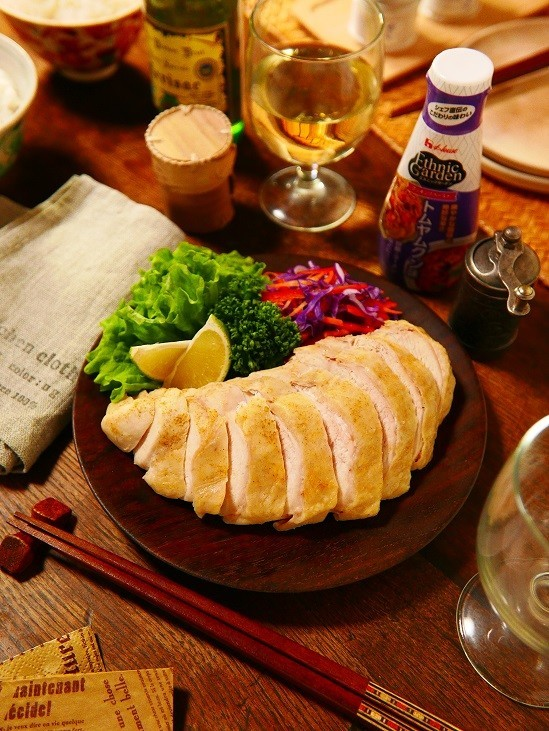 レンチン簡単♪トムヤムクン味サラダチキン