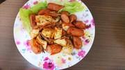 むね肉と野菜の時短炒め。の写真