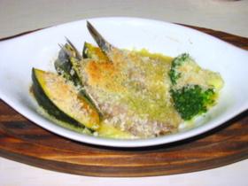 イワシと野菜のアーモンドパン粉焼き♫♬