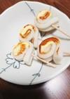 お弁当の一品に、竹輪のくるくるマヨ焼き