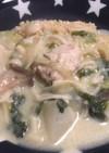 かぶと鶏団子の豆乳クリームシチュー