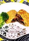 卵と合挽肉と根野菜のオムレツ♡安価美味♪