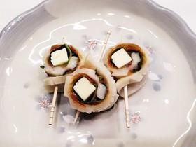 梅肉 大葉 チーズの竹輪巻き