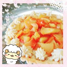 マクロビ☆りんごのカスタードタルト