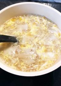 余った餃子の皮も!えのきの簡単スープ