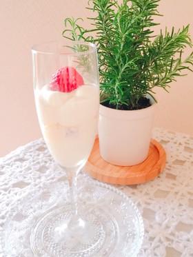 糖質ok ストロベリーレアチーズケーキ♡