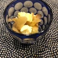驚きのいぶりがっことクリームチーズ