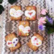 バレンタイン♡ハートのマシュマロクッキー