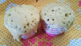 子供と蒸しパン(イチゴジャム)