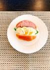 簡単☆卵とハムのロールパンサンド