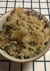 生姜の炊込みご飯(+干し椎茸.油揚げ)
