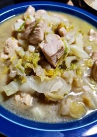 鶏むねと白菜のガラムマサラ炒め