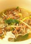 ひき肉と野菜のガッツリ食べる系スープ
