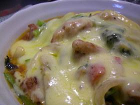 簡単スピーディー☆鶏と野菜のチーズ焼き