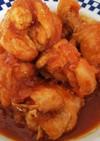 簡単絶品・骨付き鶏肉のケチャップ焼き
