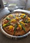 鶏とエリンギのパエリア 平土鍋