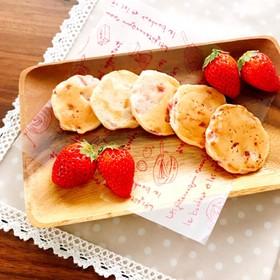 離乳食後期~☆いちごヨーグルトパンケーキ