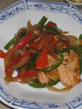 定番★鶏胸肉とピーマンの味噌炒め