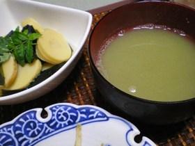 蚕豆のすり流し汁