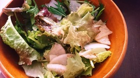 簡単☆大根とレタスのごま油サラダ