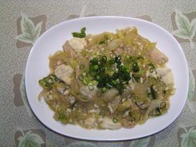 豆腐で炒め物