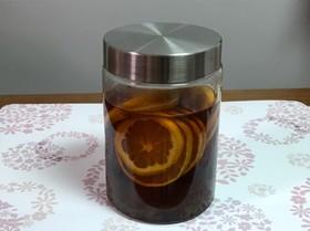みかん酢の作り方(黒酢)