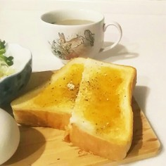 蜂蜜黒胡椒トースト