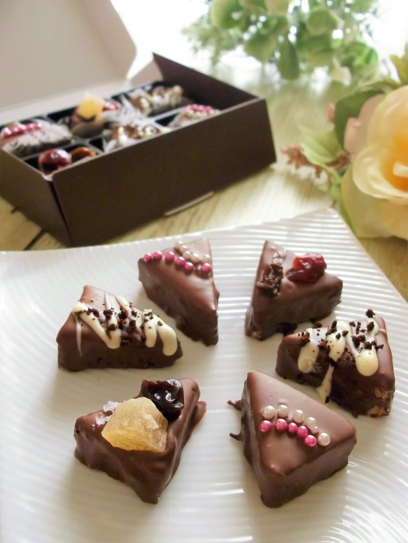 バレンタイン♪ひとくちバウムチョコケーキ