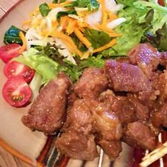 ラム肉の生姜焼き