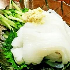 ✿いかのお刺身の食べ方✿