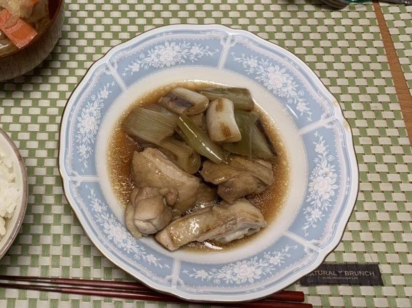 長ネギと鶏肉の甘酢煮