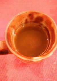 梅生醤番茶(梅干と生姜と醤油くっつけた)